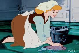 Cinderella is mopping because of mean girls